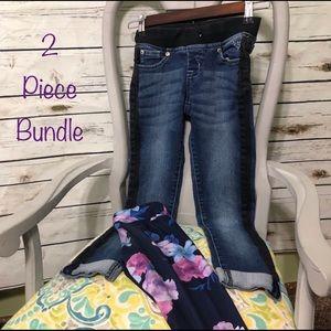🔑 2 piece girls bottoms bundle 7/8 justice gaim